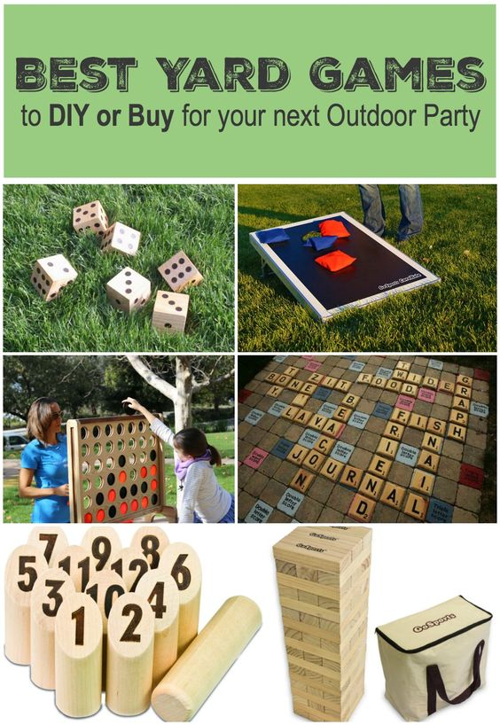 Best Yard Games for Your Next Outdoor Party - Yardzee, Giant Jenga, Connect Four, Scrabble, Corn Hole, Bocce, Giant Pong and more!: