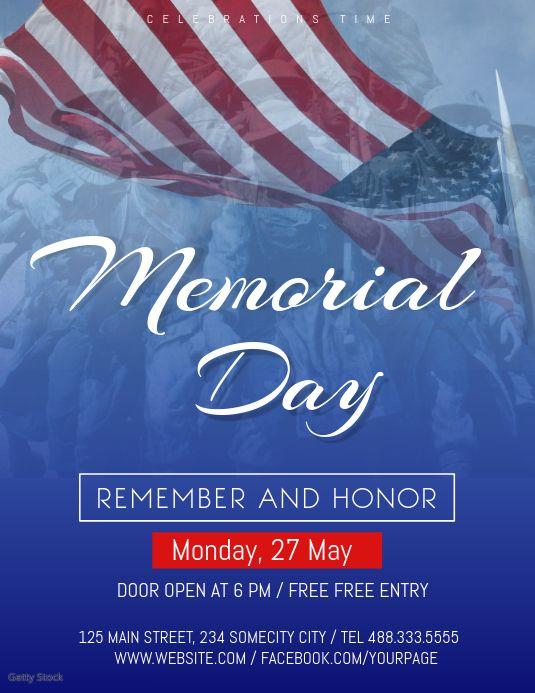 Memorial Day Celebration Flyer Remembrance Day Posters Memorial Day Memorial Day Celebrations