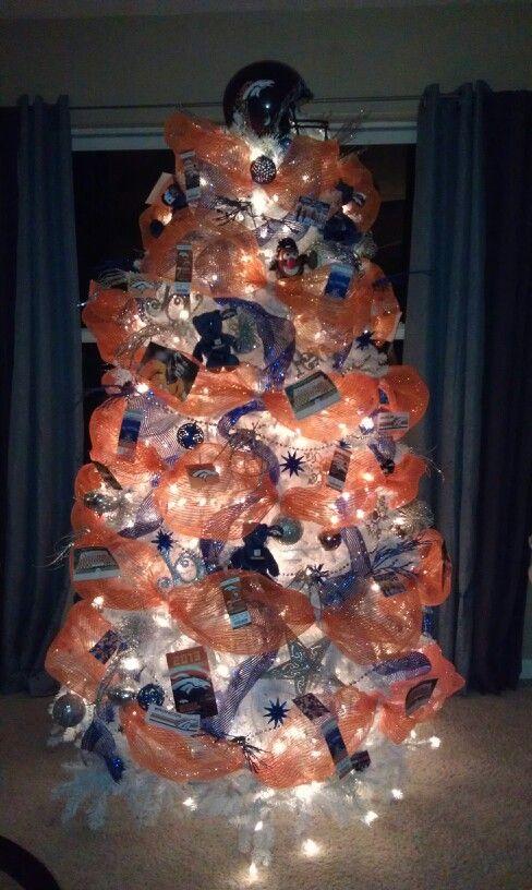Denver Bronco Christmas Tree #DenverBronco #ChristmasTree #NFL #DenverBroncoChristmasTree