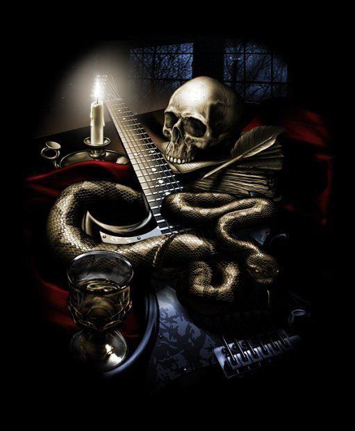 Skull Guitar Wallpaper Hd: Dark Gothic Art, Dark Gothic And Gothic Art On Pinterest