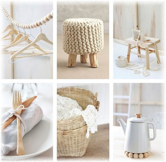 Lovely Deco: Mes collages : beige/blanc