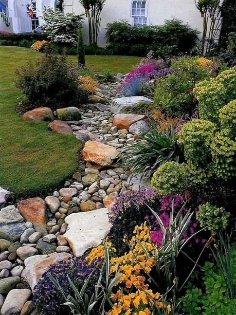 Landscaping With River Rock Dry River Rock Garden Ideas The