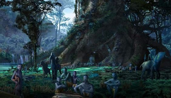 Na'vi home-tree life .