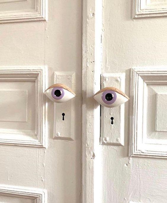 Pomo de puerta pintados a mano #doorknobs #diy