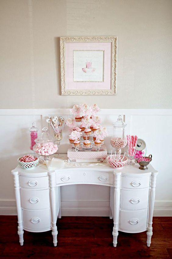 Ballerina themed birthday party found via Kara's Party Ideas. So pretty! #ballerina #girl #birthday #party #ideas