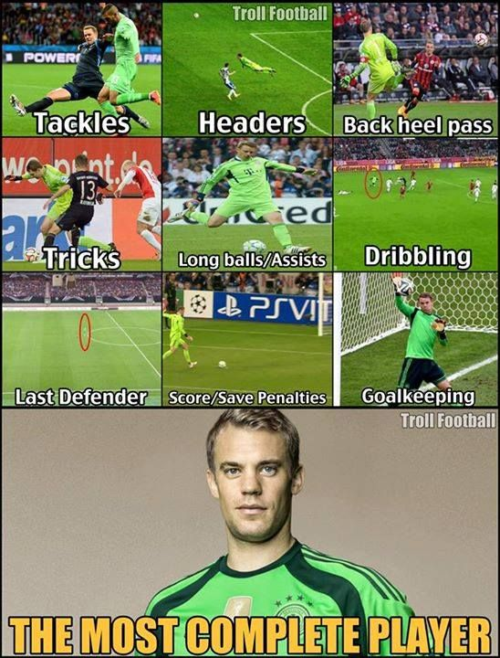 Manuel Neuer - the most complete player