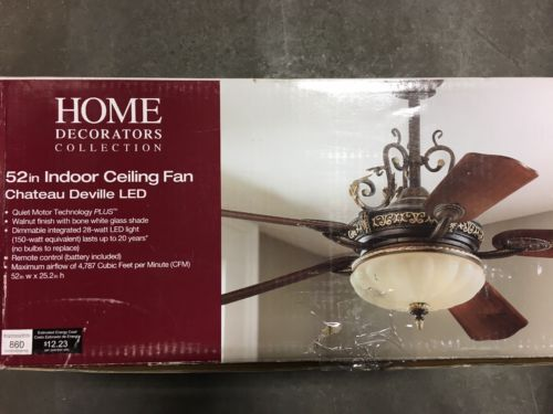 Walnut Ceiling Fan Replacement Parts Chateau Deville 52 in
