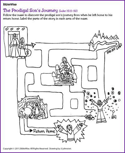 prodigal son 39 s journey maze kids korner biblewise