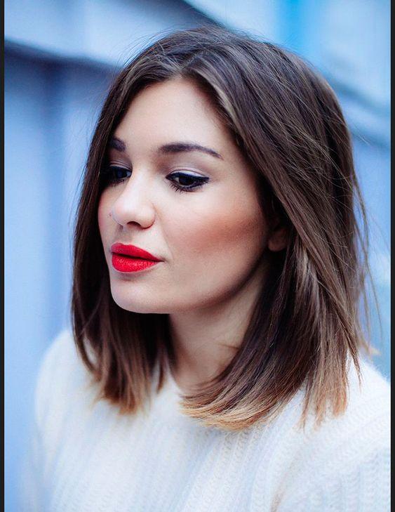 Les plus beaux carres mi-longs vus sur Pinterest cheveux raides