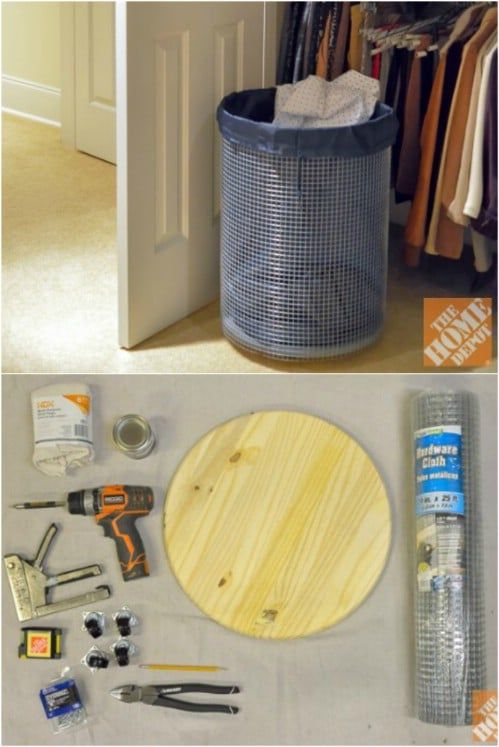 13 Diy Laundry Baskets And Hampers That Make Organizing Laundry Quick And Easy Diy Laundry Basket Diy Laundry Laundry Basket