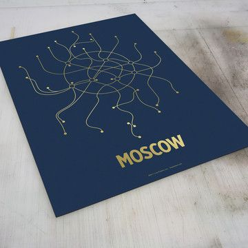 moscow subway print