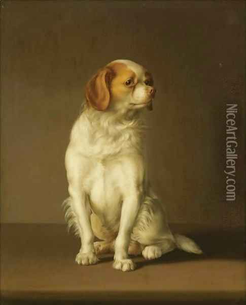 Portrait Of A King Charles Spaniel Oil Painting - Louis Leopold Boilly:
