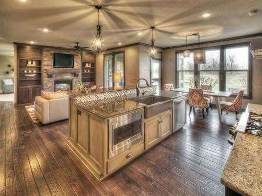 Open Floor Plan..#beautiful | New Build | Pinterest | Open Floor, House And  Kitchens