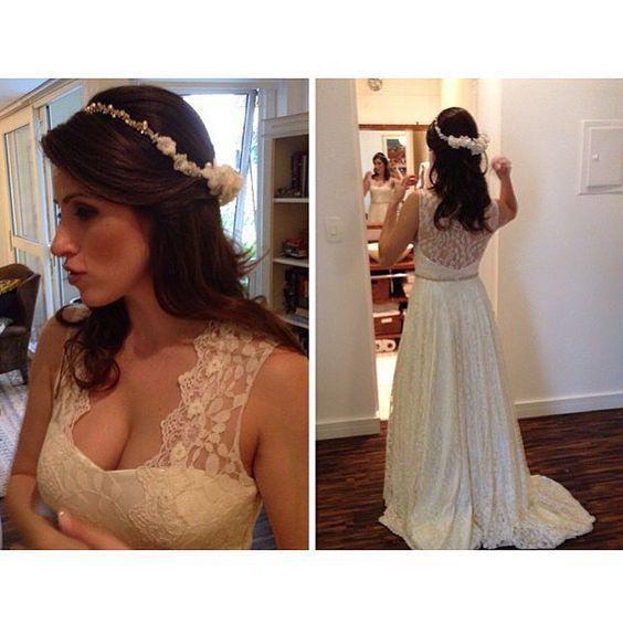 REAL BRIDE Fernanda  | Vestido Grace Kelly Customizado