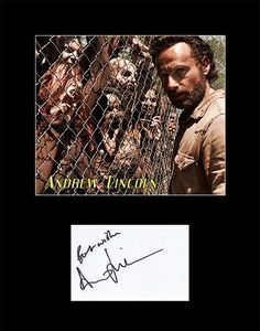 Framed and Matted Walking Dead Andrew Lincoln Signed Autograph and Photo