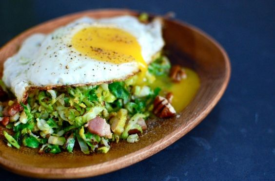 Brussel Sprout Hash - i legit love brussel sprouts, so eating them for breakfast is kind of amazing