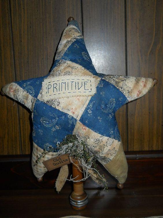Primitive Vintage Quilt Star