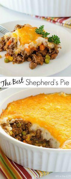 Shepherd's Pie (Cottage Pie when using beef):