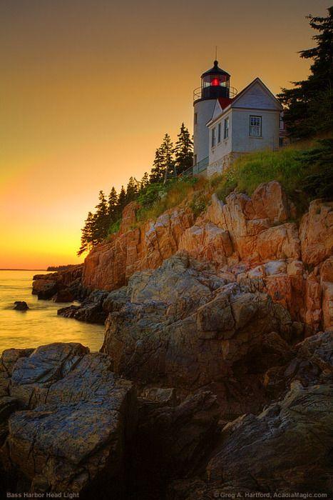 Bass Harbor Lighthouse, Acadia National Park, Maine:
