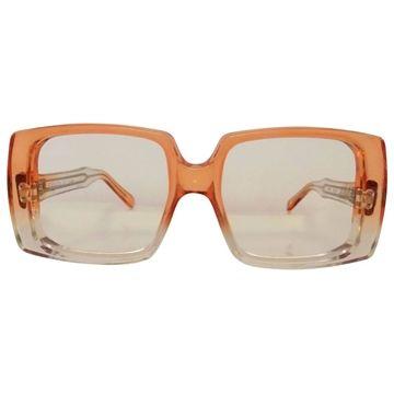 Givenchy 1980s 52-80 transparent frame orange vintage sunglasses