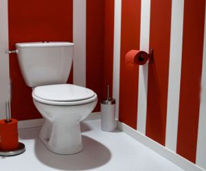 Design rouge and d coration on pinterest - Papier peint original pour wc ...
