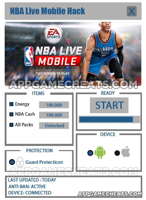 nba live mobile hack without human verification 2018