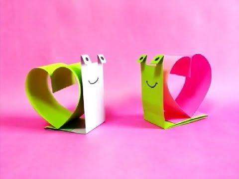 اعمال يدوية اشغال يدوية كيف تصنع حلزون جميل بالورق Origami Love Valentines Diy Kids Origami