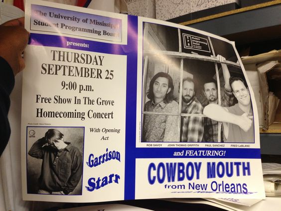 Found in storage. This old event sponsored by the Student Programming Board at Ole Miss.