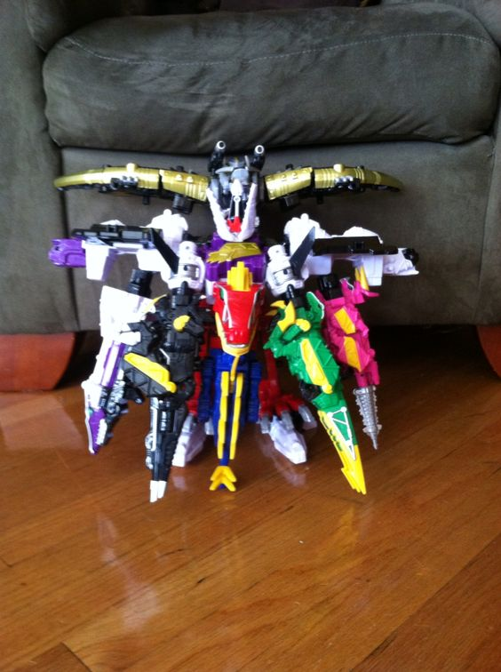 My awesome power ranger megazord invention!