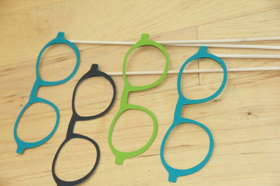Eye Glasses Photo Props (four) on Etsy, $16.00