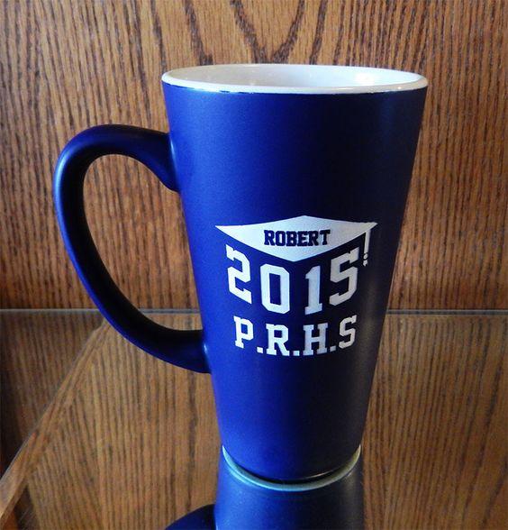 Personalized Blue Graduation Cap Coffee Mug, $11.95
