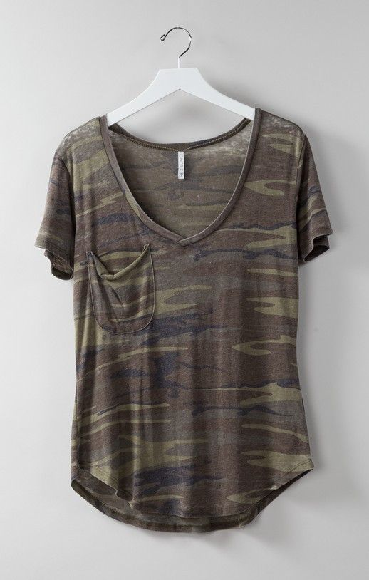 Basic Pocket Tee in Camo by Z Supply