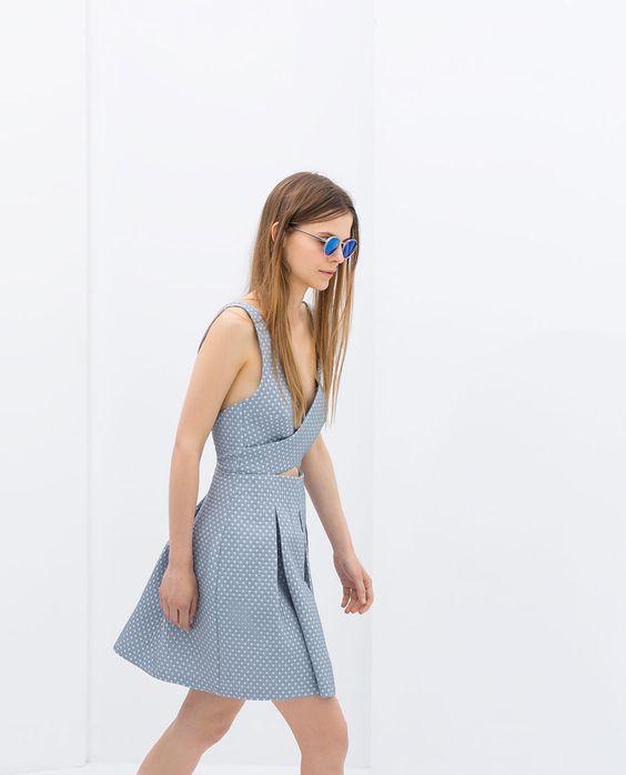 ZARA - TRF - JACQUARD DRESS