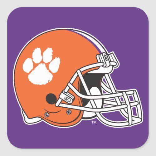 Clemson University Football Helmet Square Sticker Zazzle Com In 2020 Clemson University Football Football Helmets Personalized Baseball Gifts