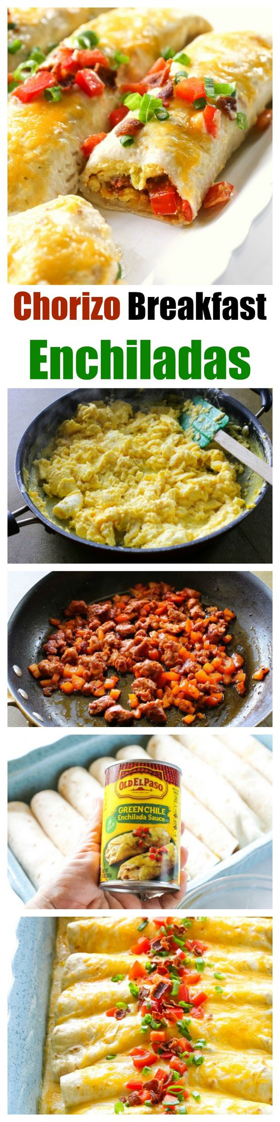 Chorizo Breakfast Enchiladas | Recipe | Eggs, Bacon and Brown