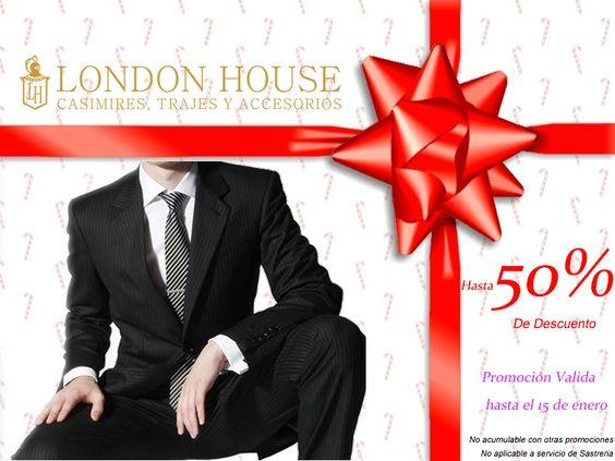 Elegante y Exclusivo solo en London House http://www.londonhousecasimires.com/