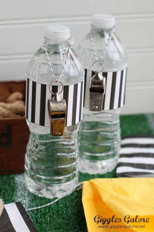 OMG! SO Awesome! referee water bottles ~ Super bowl Party Ideas~ Football ~: