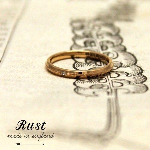 ナイフエッジとミル打ちのリング(結婚指輪) ID5866 | RUST made in England | マイナビウエディング