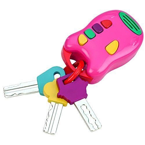 Baby Car Keys Toy Ring Rattle Set Driving Infant