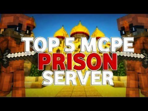 Top 5 Minecraft Pe Prison Servers Best Prison Servers Mcpe V1 5 2 Minecraft Pe Minecraft Server