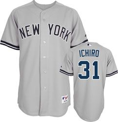 Ichiro Suzuki Jersey: Authentic Majestic Road Grey Authentic New York Yankees Jersey $214.99 http://www.fansedge.com/Ichiro-Suzuki-Jersey-Authentic-Majestic-Road-Grey-Authentic-New-York-Yankees-Jersey-_999762757_PD.html?social=pinterest_pfid66-60163