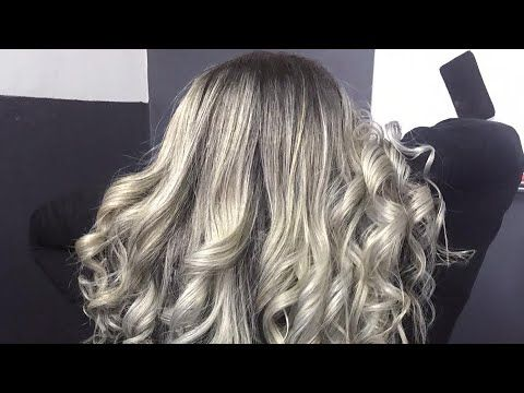 Highlight ماش بلاتين سحب لون Airtouch By Radiacoloriste Meches Chargees Platines Youtube Long Hair Styles Hair Styles Hair