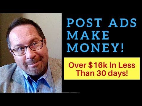 Good Video Just Post Ads How To Copy And Paste Ads And Make 100 500 Per Day Instant Cash Solutio Instant Cash Make Money Today Home Based Business