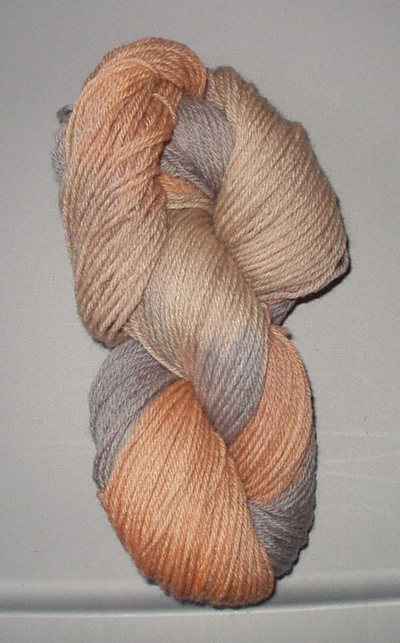Antique Amber Wool Yarn Worsted Weight  by SunnyhillFiberDreams