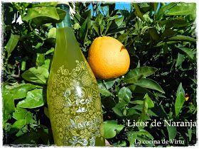 La cocina de Virtu: Licor de Naranja