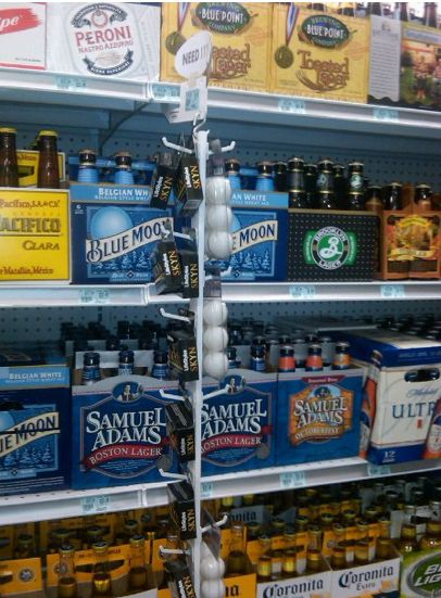 Beer Isle, Condoms and Ping Pong Balls because you never know!