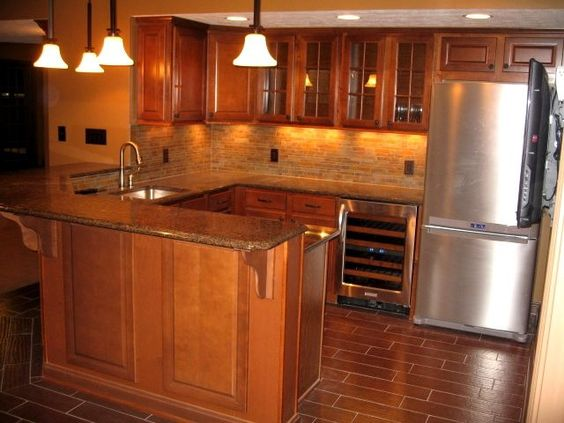 Man Cave Kitchen Cabinets : Best images about office basement cherries