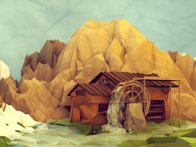 Ilustraciones Low poly por Timothy J. Reynolds