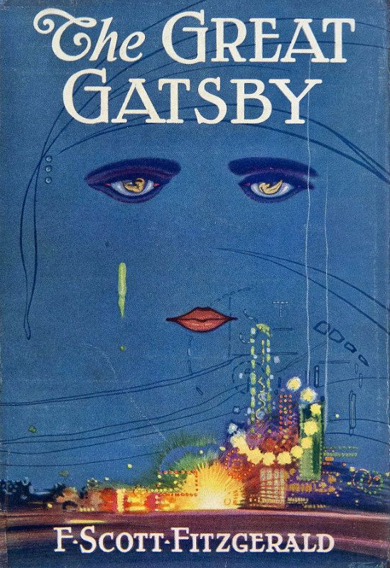 Great Gatsby Book Cover Ideas : Vintage book cover print quot the great gatsby f scott