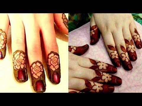 simple mehndi designs for finger tips